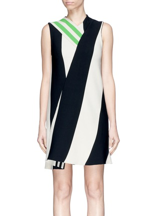 Main View - Click To Enlarge - CALVIN KLEIN 205W39NYC - Shoulder strap stripe twill dress
