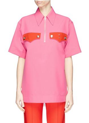 Main View - Click To Enlarge - CALVIN KLEIN 205W39NYC - Half-zip shirt