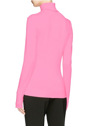 Back View - Click To Enlarge - CALVIN KLEIN 205W39NYC - Logo embroidered long sleeve turtleneck T-shirt