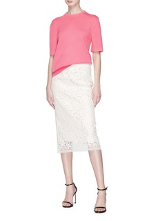 CALVIN KLEIN 205W39NYC Guipure lace pencil skirt
