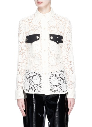 Main View - Click To Enlarge - CALVIN KLEIN 205W39NYC - Guipure lace policeman shirt