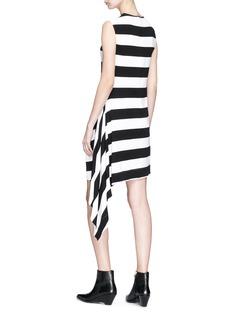 CALVIN KLEIN 205W39NYC Ruffle trim stripe dress