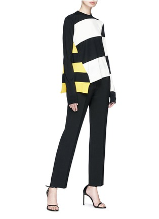 Figure View - Click To Enlarge - CALVIN KLEIN 205W39NYC - Stripe asymmetric hem sweater