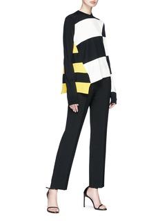 CALVIN KLEIN 205W39NYC Stripe asymmetric hem sweater