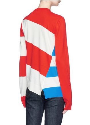 Back View - Click To Enlarge - CALVIN KLEIN 205W39NYC - Stripe asymmetric hem sweater
