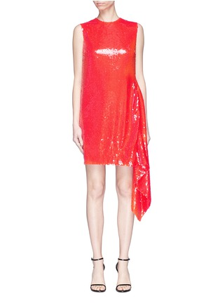 Main View - Click To Enlarge - CALVIN KLEIN 205W39NYC - Ruffle trim sequin mini dress
