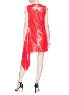 CALVIN KLEIN 205W39NYC Ruffle trim sequin mini dress