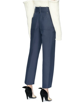 Back View - Click To Enlarge - CALVIN KLEIN 205W39NYC - Straight leg cropped suiting pants