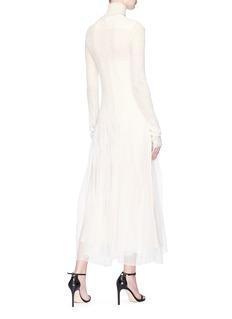 Calvin Klein 205W39NYC 高领褶裥网纱拼接针织连衣裙