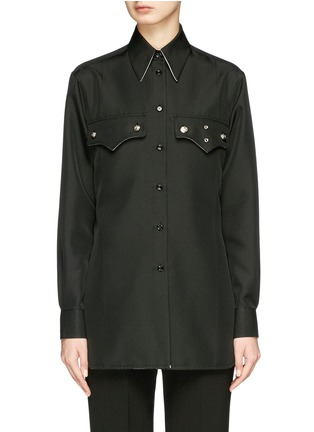 Main View - Click To Enlarge - CALVIN KLEIN 205W39NYC - 'Policeman' twill shirt