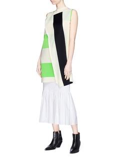 CALVIN KLEIN 205W39NYC Asymmetric panel stripe knit dress