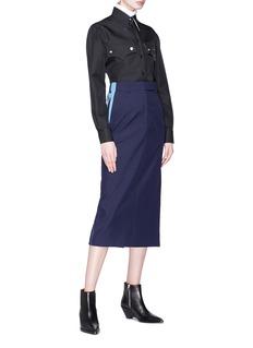 Calvin Klein 205W39NYC 侧条纹高腰铅笔裙