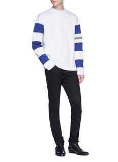 CALVIN KLEIN 205W39NYC Stripe sleeve sweatshirt