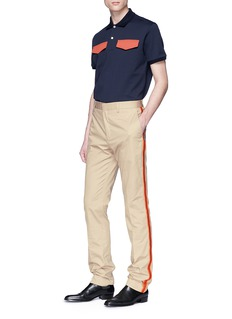 CALVIN KLEIN 205W39NYC Uniform stripe outseam chinos