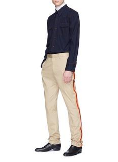 CALVIN KLEIN 205W39NYC Contrast topstitching denim shirt