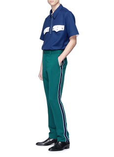 CALVIN KLEIN 205W39NYC Half zip twill shirt