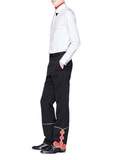 Calvin Klein 205W39NYC Mariachi几何图案拼贴羊毛长裤