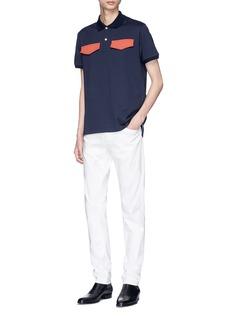 CALVIN KLEIN 205W39NYC Contrast flap polo shirt