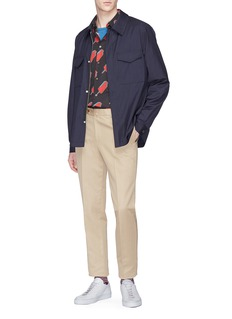 PS by Paul Smith Micro check wool hopsack shirt jacket