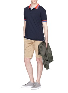 PS by Paul Smith Stripe collar polo shirt