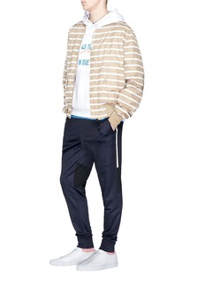 PS by Paul Smith Striped outseam panelled jogging pants