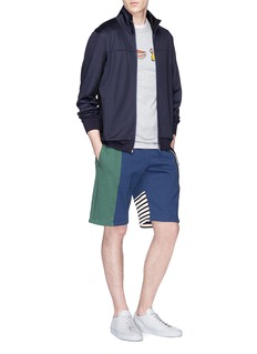 PS by Paul Smith Striped sleeve panelled track jacket