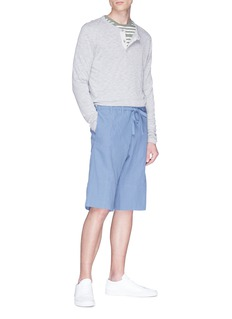 Paul Smith Drawstring cotton-linen suiting shorts
