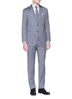 Tomorrowland Wool-silk herringbone suit