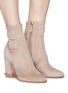 Valentino 'Rockstud' stretch suede boots