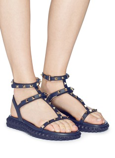 Valentino 'Free Rockstud' caged calfskin leather sandals