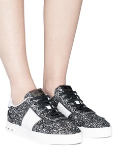 Valentino 'Flycrew' glitter leather sneakers