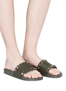 VALENTINO 铆钉点缀拖鞋