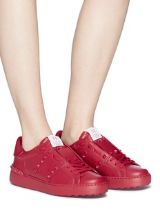 Valentino 'Rockstud Untitled Rosso 11' leather sneakers