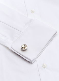 Tateossian Tonneau skeleton gear cufflinks
