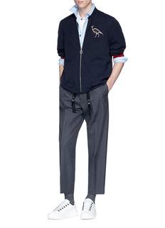 Lanvin Dinosaur appliqué twill jacket