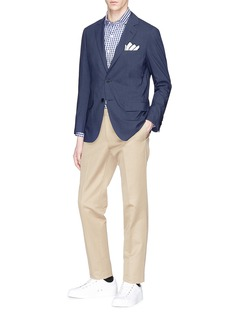 Tomorrowland Check Ermenegildo Zegna wool-silk soft blazer