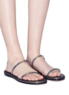 RODO Paillette strap leather sandals