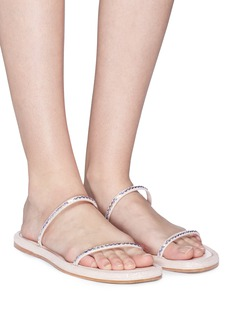 RODO Sequinned strap leather sandals