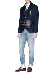 Gucci Logo print leather bum bag