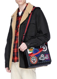 Gucci 'Night Courrier' appliqué GG Supreme canvas messenger bag