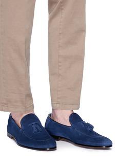 DOUCAL'S Diame流苏装饰绒面真皮乐福鞋