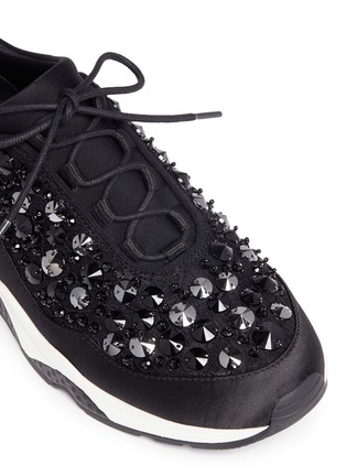 Detail View - Click To Enlarge - Ash - 'Muse Beads' embellished lace sneakers
