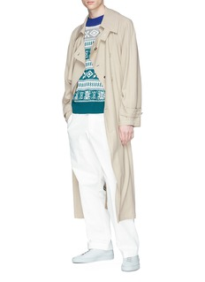 Acne Studios 'Marvick' contrast panel belted trench coat