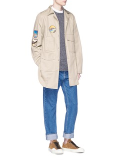 Acne Studios 'Malvel' mix patch cargo pocket shirt