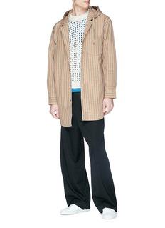 Acne Studios 'Merves' hooded check plaid shirt