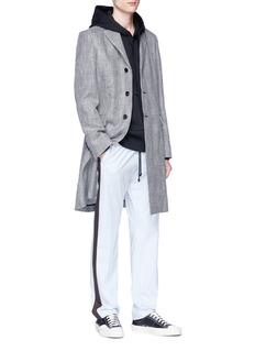 ACNE STUDIOS Mawin Prince平驳领格伦格纹长款大衣