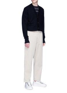 Acne Studios 'Neve Face' patch wool cardigan