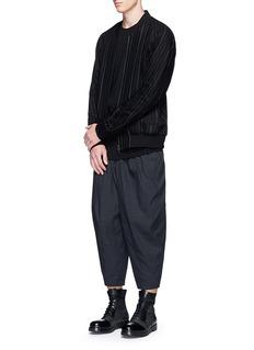 DEVOADrop crotch hopsack cropped pants