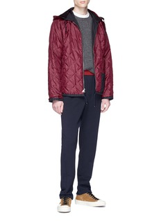Marni Reversible detachable hood logo appliqué jacket