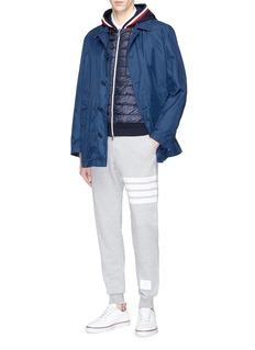 Moncler 'Maglia' jersey panel down puffer zip hoodie